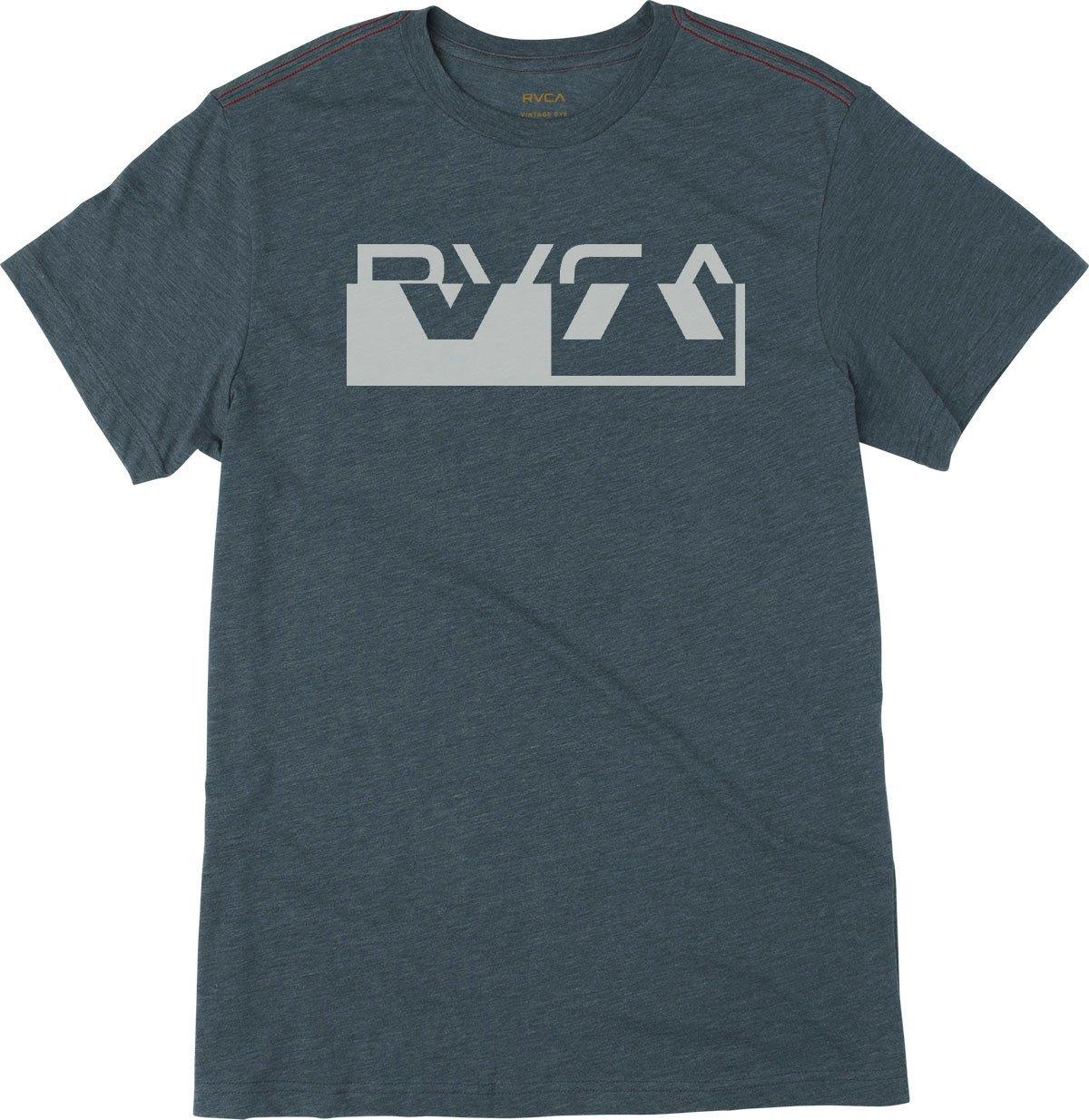 RVCA Men's Co Brand Short Sleeve T-Shirt, Dark Denim, M