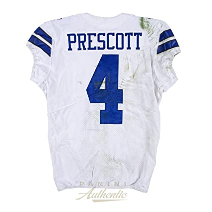 377a594c375 Dak Prescott Game Worn Dallas Cowboys Jersey From 10/22/17 vs the San