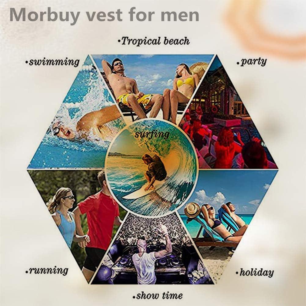 Morbuy Hombre Camiseta sin Mangas 3D Impresa de Tirantes, Casual Verano Tank Top Novedad Funny O-Cuello Superior Fitness Cómodo Transpirables ...