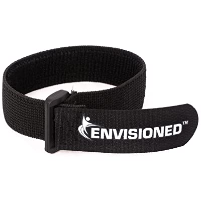 "ENVISIONED Elastic Reusable Cinch Straps 1""x20"" - 10 Pack Hook and Loop - Plus 2 Free Bonus Reusable Cable Ties: Electronics"