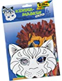 Folia 23202–Masques enfants chat, Lot de 6, blanc