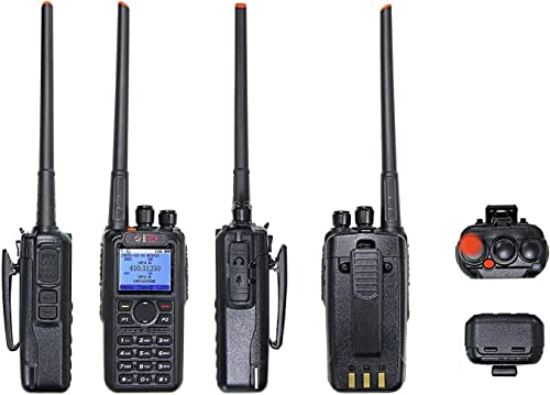 BTECH DMR-6X2 DMR and Analog 7-Watt Dual Band Two-Way Radio 136-174MHz VHF 400-480MHz UHF , with GPS and Recording, Includes Full Kit with 2 Batteries, Programming Cable, and More