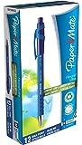 Paper Mate Flexgrip - Bolígrafo, azul, paquete de  12 unidades
