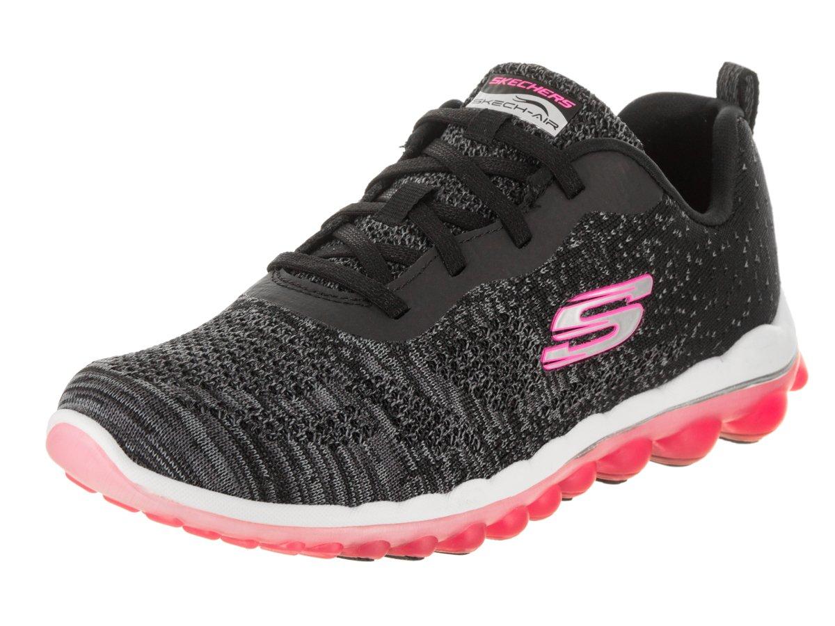 Skechers Sport Women's Skech Air Run High Fashion Sneaker B079SFW7DX 9.5 C/D US|Black Knit/Hot Pink