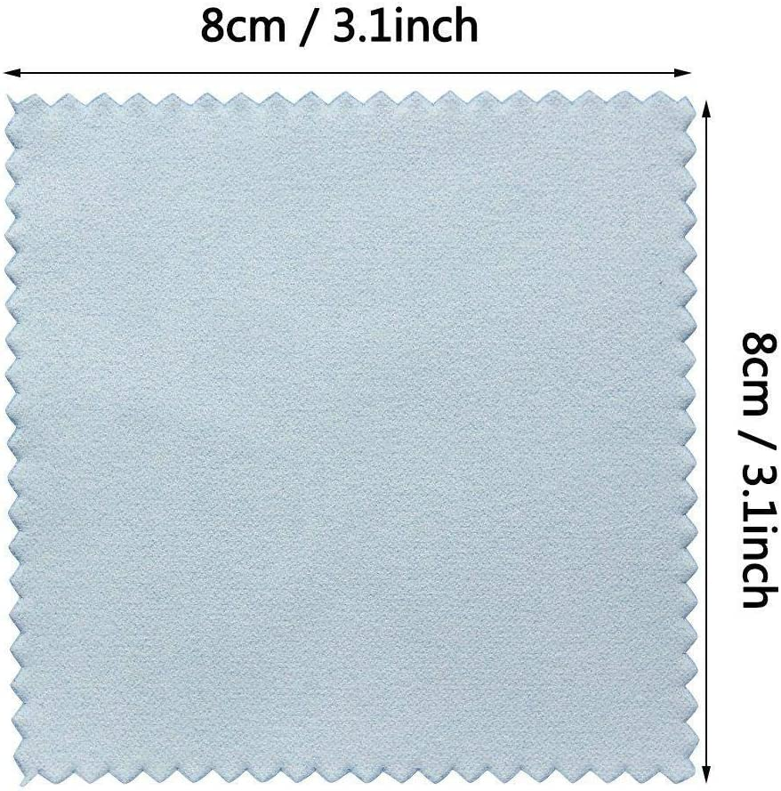 WopenJucy 60 Pack Jewelry Cleaning Cloth Polishing Cloth for Sterling Silver Gold Brass Platinum and Copper