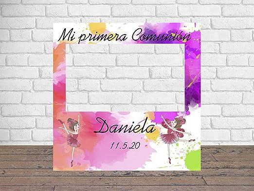 Photocall Mi Primera Comunión Bailarinas 100 x100 cm | Regalos para Bautizos | Photocall Económico y Original | Ideas para Regalos | Regalos ...