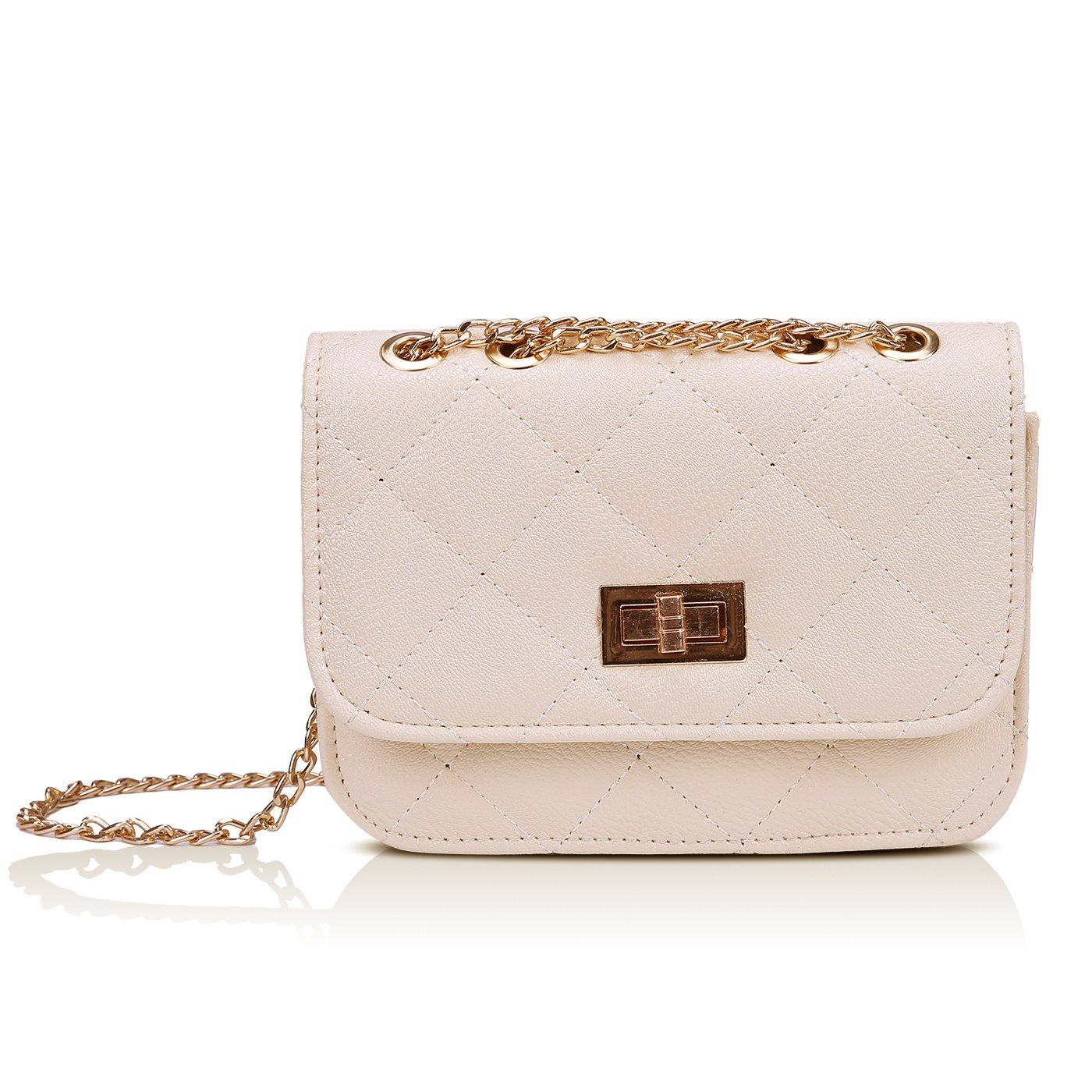 ec15c7b30ed7 Details about HDE Women s Small Crossbody Handbag Purse Bag with Chain  Shoulder Strap
