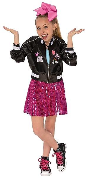 d98a1fe604a5e Amazon.com: Nickelodeon JoJo Siwa Bomber Jacket Girls Costume (Medium  (8-10)): Clothing