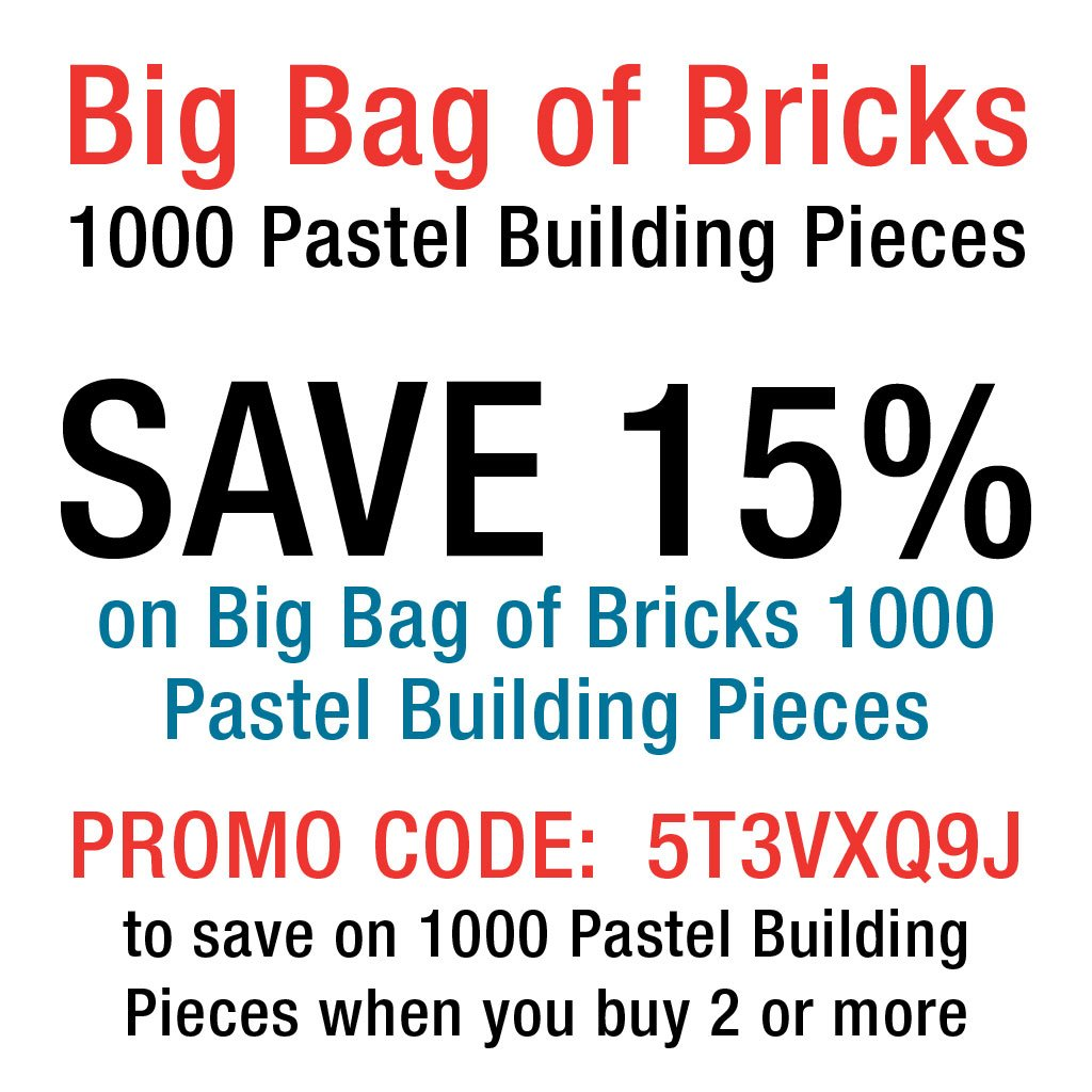 Classic building blocks abel building solutions - Amazon Com Building Bricks 1000 Pc Big Bag Of Bricks Bulk Pastel Friends Colored Blocks With 54 Roof Pieces Tight Fit With All Major Brands Toys
