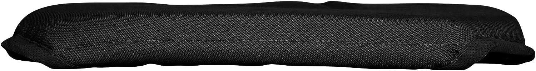 coton dint/érieur galette 4 rabats 36x36x3.5cm coton panama noir