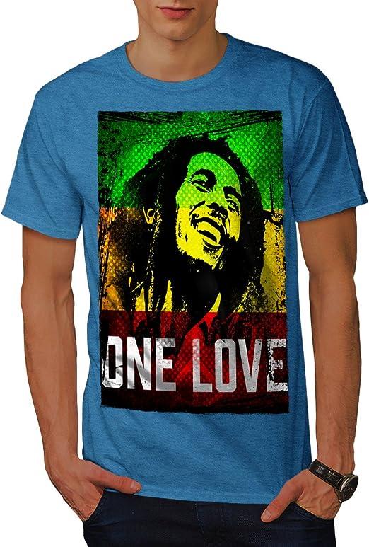 Wellcoda Marley Un Amour Pot Rasta - Camiseta para Hombre, diseño ...