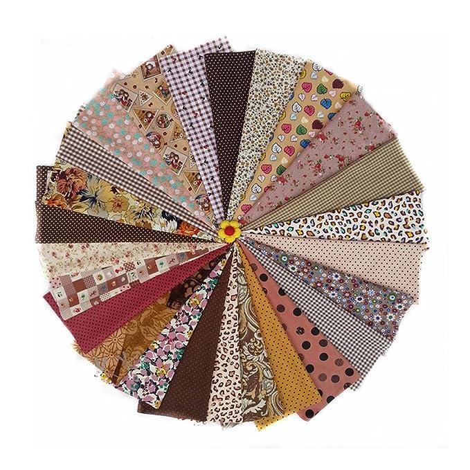 rosenice tela de algodón para almazuela, plástico tejer costura Patchwork paños DIY Artesanía 25pcs plástico de Bundles: Amazon.es: Salud y cuidado personal