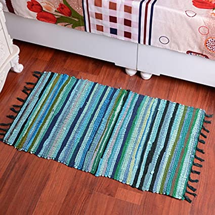 amazon com whoishe knitting cotton area rugs kitchen living room rh amazon com