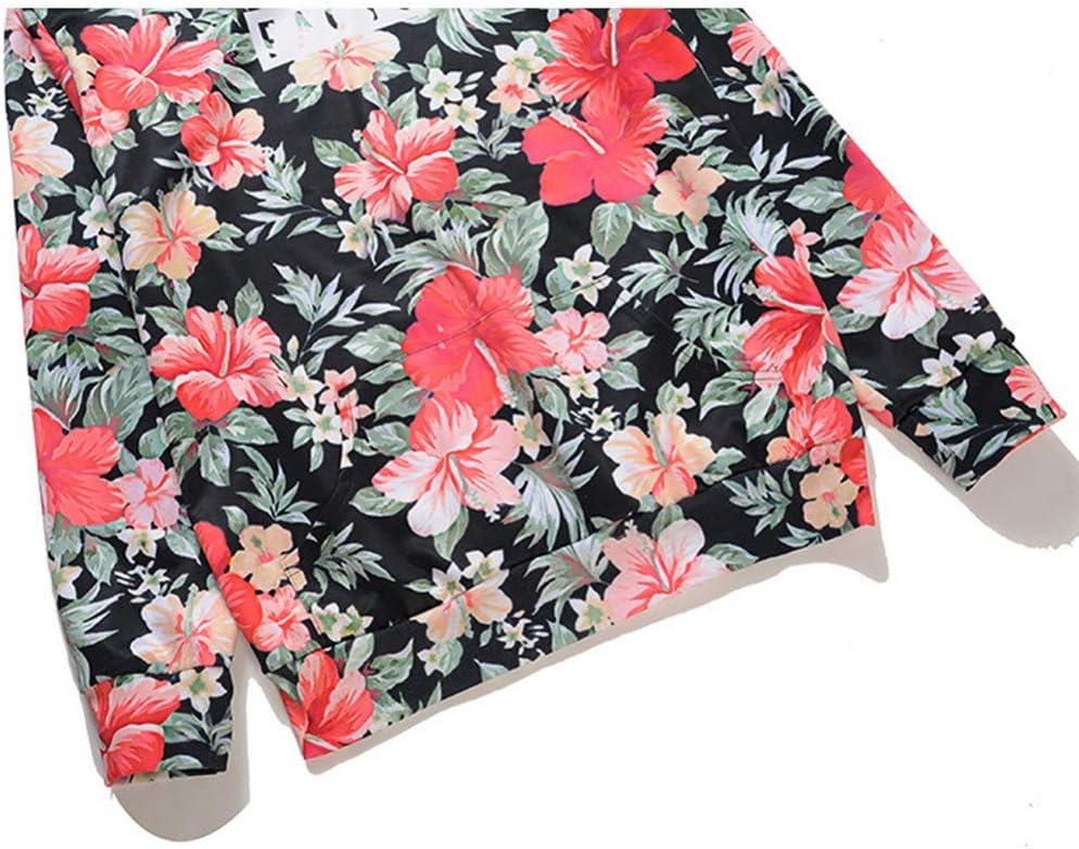 PU Frühling und Herbst New Hooded 3D Sweatshirts Herren Blumendruck Training Bekleidung Outdoor Sports Sweatshirts Herren Sports Sweatshirts Mantel,* L L