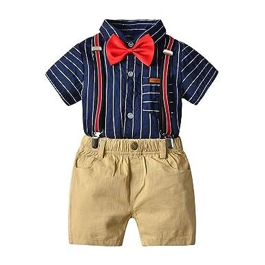 Sunonvi Traje Formal para niños pequeños Camisa de Tirantes ...