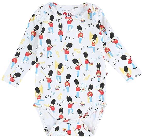 Piccalilly body algodón orgánico multicolor unisex banda de marcha