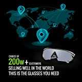 TOREGE Sports Sunglasses with 1.44mm Polarized Lens for Men Women Cycling Running Driving Fishing Golf Baseball Glasses TR18 Eagles
