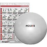 Ballon DE Gymnastique - Yoga, Pilates - 65, 75, 85 ou 95 cm - Pompe Incluse/Argent