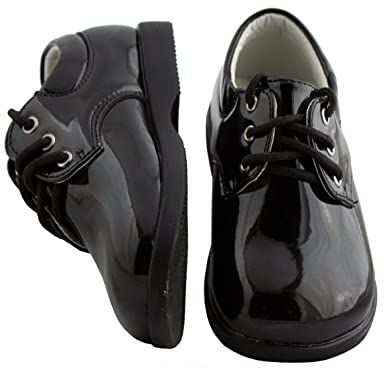 49b5192d07d Image Unavailable. Image not available for. Color  Boys Infant Toddler Black  Round Toe Tuxedo Shoe