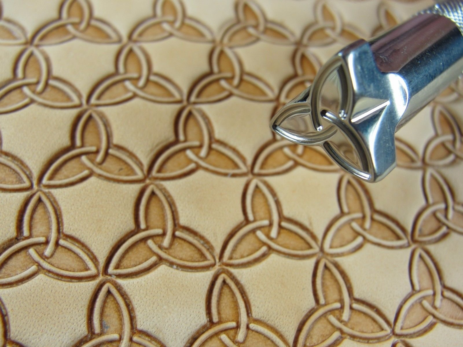Stainless Steel Barry King - #3 Celtic Snowflake Geometric Stamp (Leather Tool)