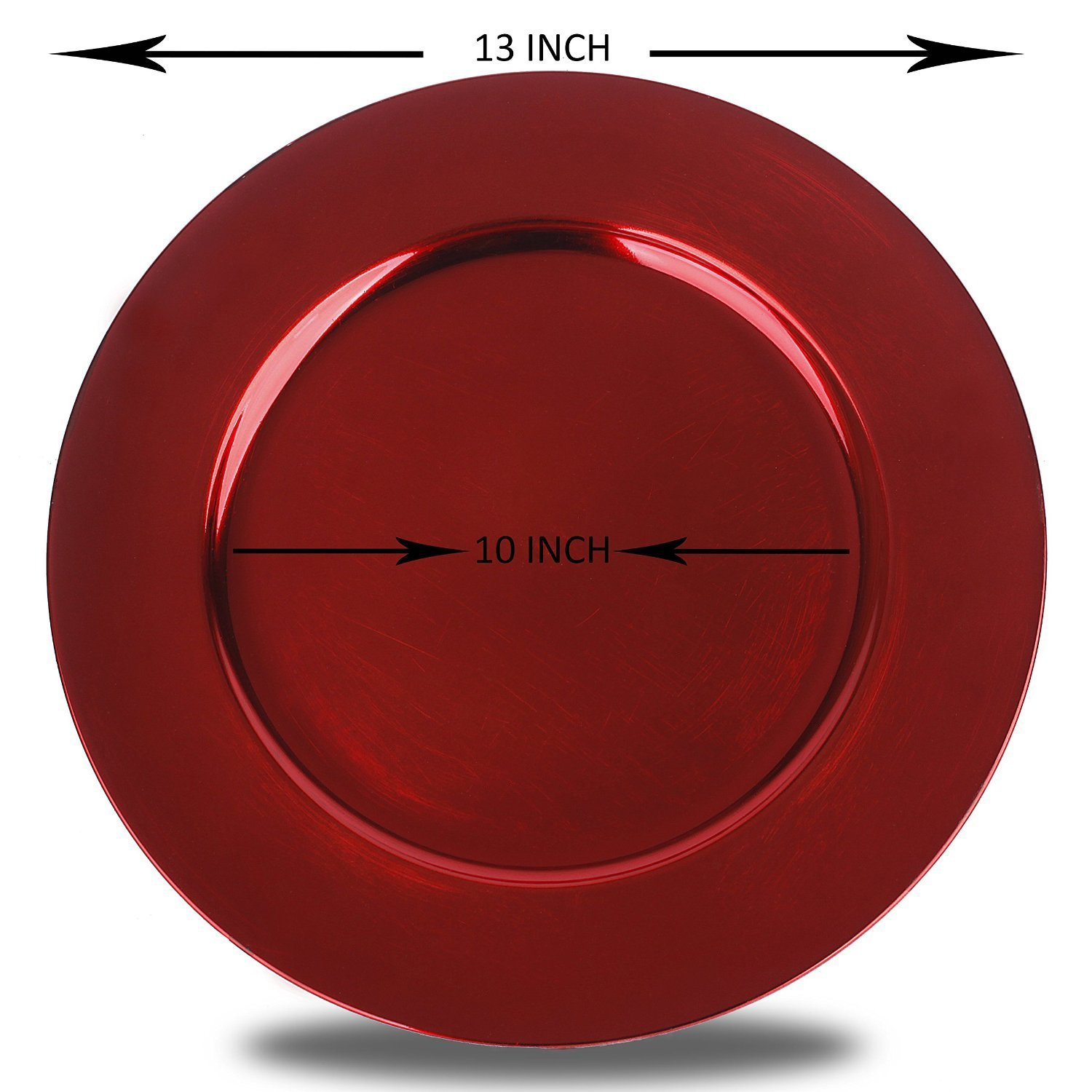 Luxurious Round Charger Dinner Plates, Burgundy, Red 13 inch, Set of 1,2,4,6, or 12 (1) - Up Your Dinner Game (12)