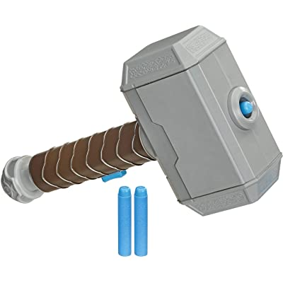 Avengers NERF Power Moves Marvel Thor Hammer Strike Hammer NERF Dart-Launching Toy for Kids Roleplay, Toys for Kids Ages 5 and Up: Toys & Games