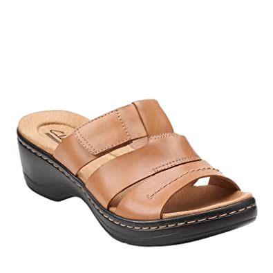 Clarks Hayla Glacier Womens Slide Sandals Beige 8.5