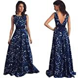 Leewos Floral Long Dresses,Women Sexy Backless