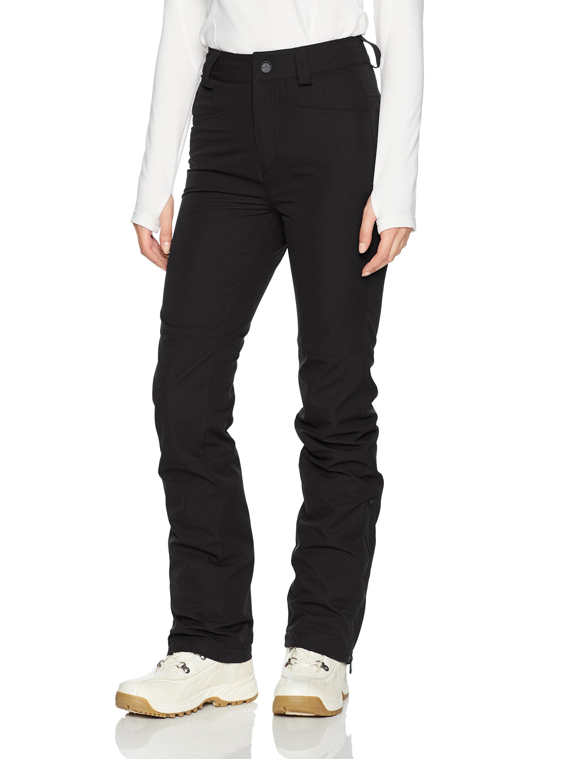 Volcom Junior's Coast Stretch 2 Layer Shell Snow Pant, Black, Small