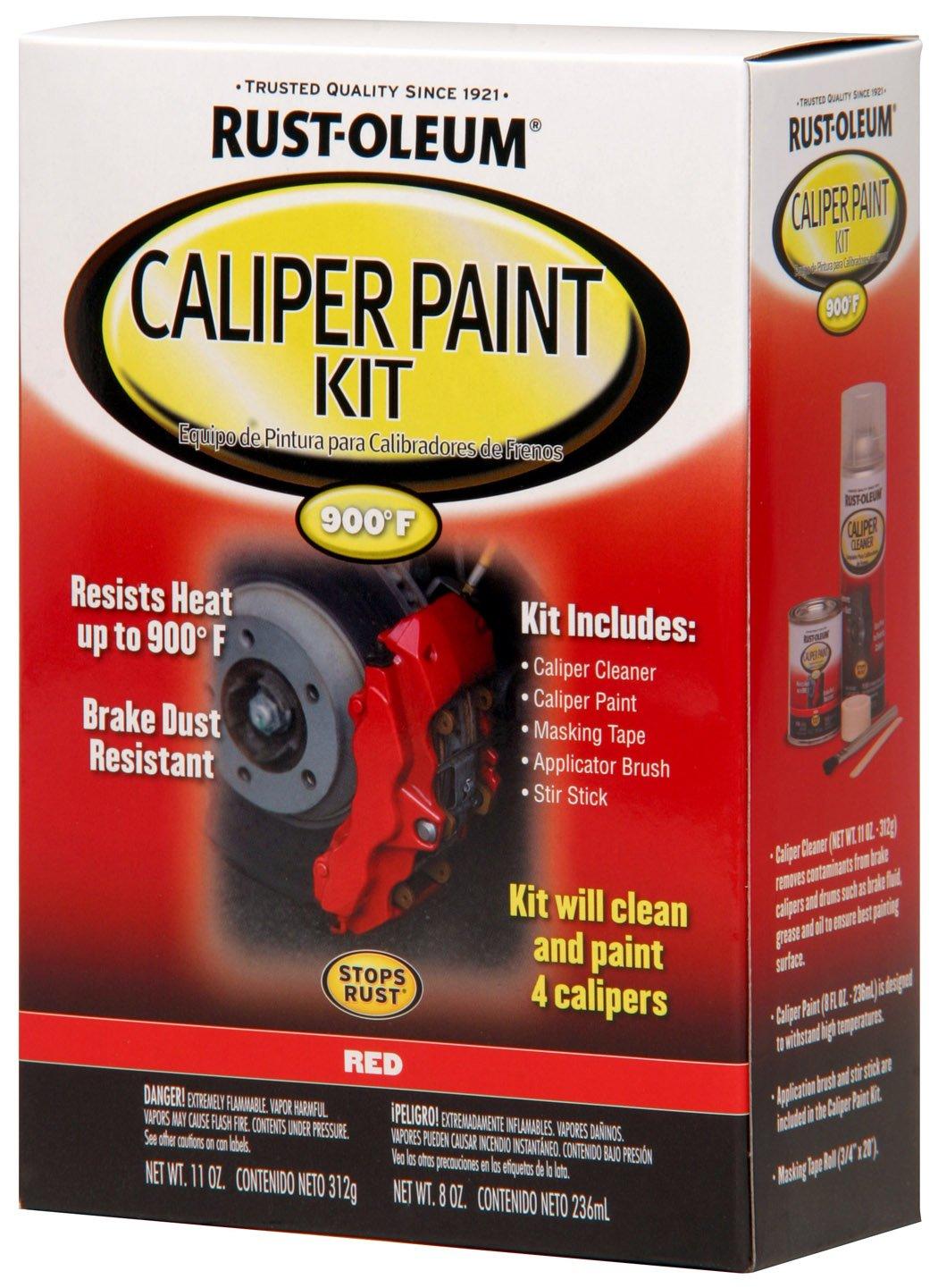 Amazon.com: Rust-Oleum Automotive 257169 Caliper Kit, Red: Home ...