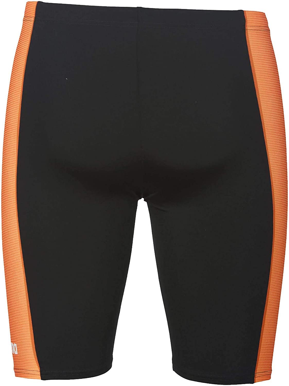MaxLife Black-Orange Arena Blended Stripe Jammer