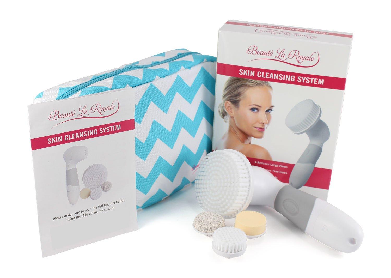 Waterproof Facial Brush Cleansing System For Face Body Pembersih Muka Elektrik Massage 6 In 1 Rotating Spin Heads Best To Exfoliate Scrub Skin Remove Blackheads Pore Cleanser