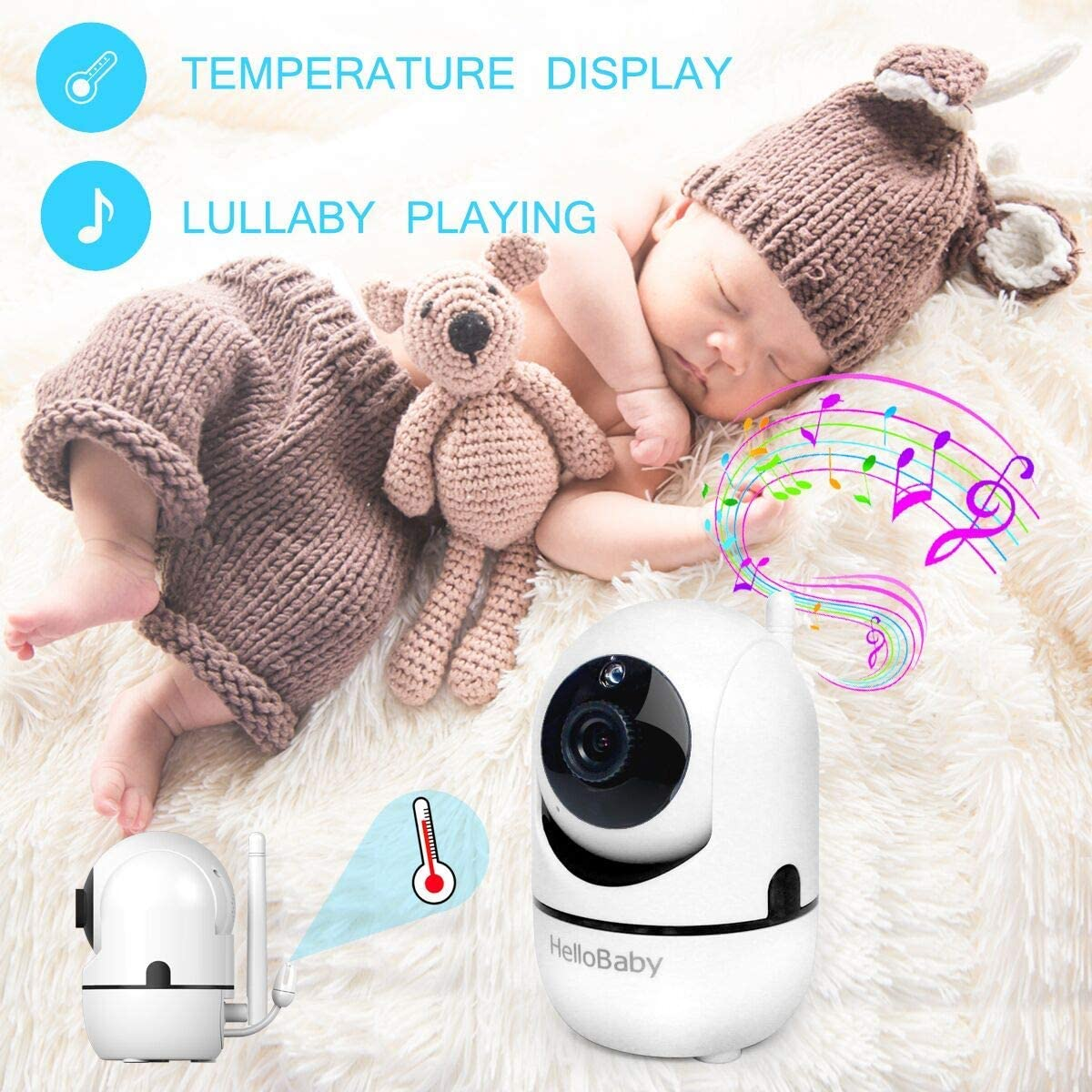 "Baby Monitor with Remote Pan-Tilt-Zoom Camera and 3.2"" LCD Screen, Infrared Night Vision (Black) 71VCaIj8YWL"