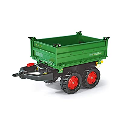 Rolly Toys Mega Trailer Tractor Attachment, Green: Toys & Games