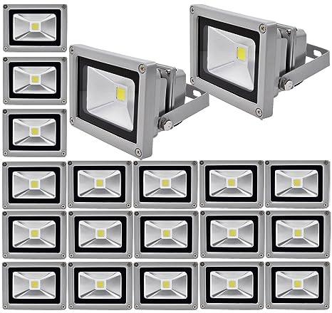 20pcs 10W LED Foco Proyector,ALPHA DIMA IP65 Impermeable Luz de Seguridad,Iluminación Interior