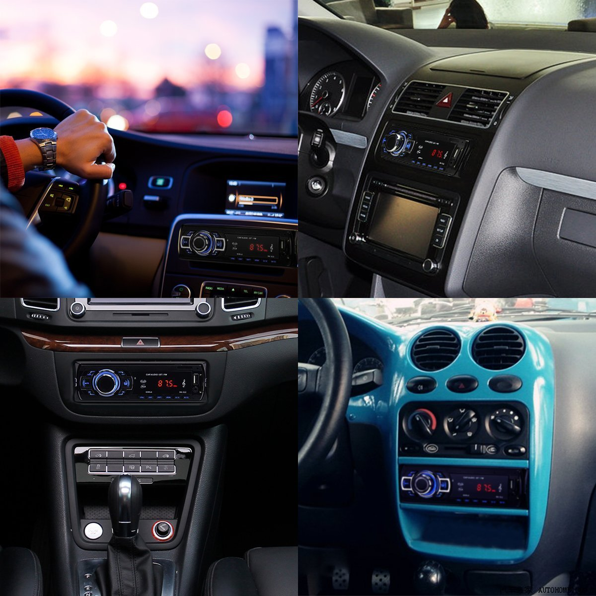 POMILE Car Stereo Audio Receiver Bluetooth, Car Radio MP3 Player Single Din In-Dash USB/SD/FM/AUX/MMC with Remote Control 12V, (No CD/DVD) by POMILE (Image #9)