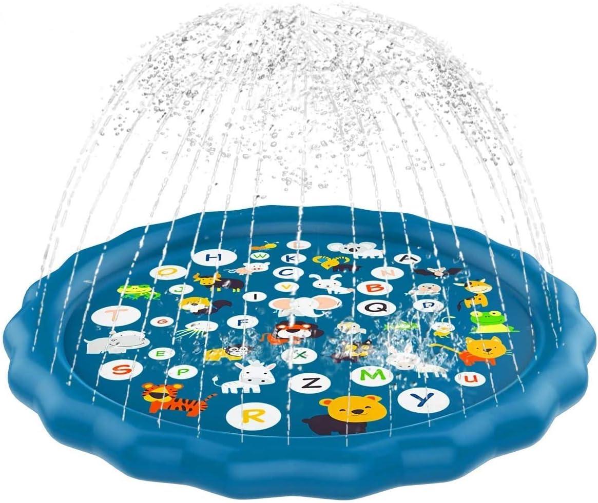 Children/'s Sprinkler Pool Kiddie Baby Pool Splash Pad Sprinkler for Kids Toddlers Outdoor Games Water Mat Toys Fun Backyard Fountain Play Mat for 1-12 Year Old Girls Boys