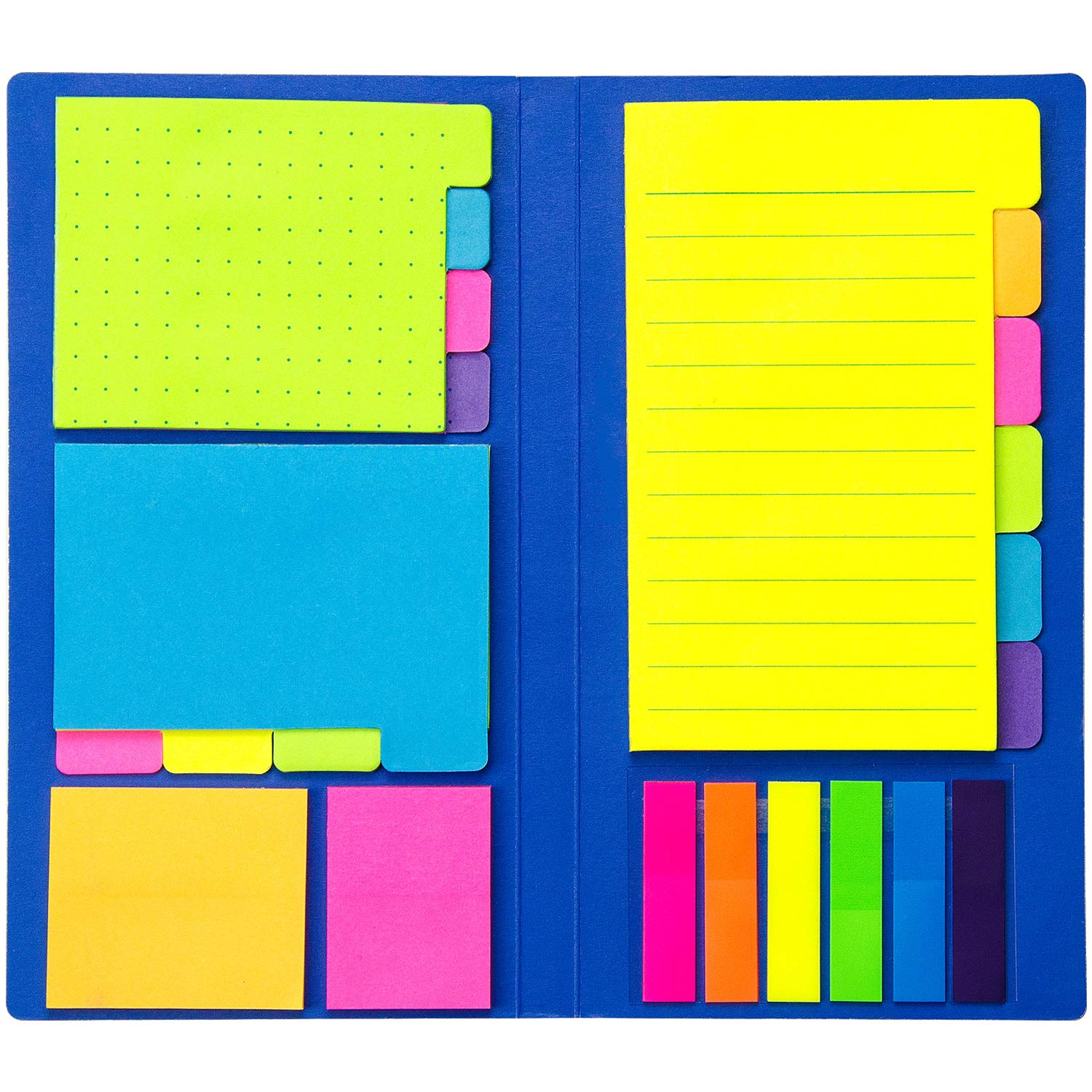 Colored Divider Sticky Notes Bundle Set by heartybay, Prioritize with Color Coding, 60 Ruled (4x6), 48 Dotted (3x4), 48 Blank (4x3), 48 Orange and Pink, 25 per PET Color - 402 pcs