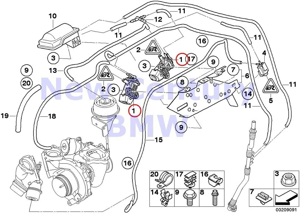 BMW Genuine Vacuum Control Pressure Converter X5 3.5d X5 35dX 335d