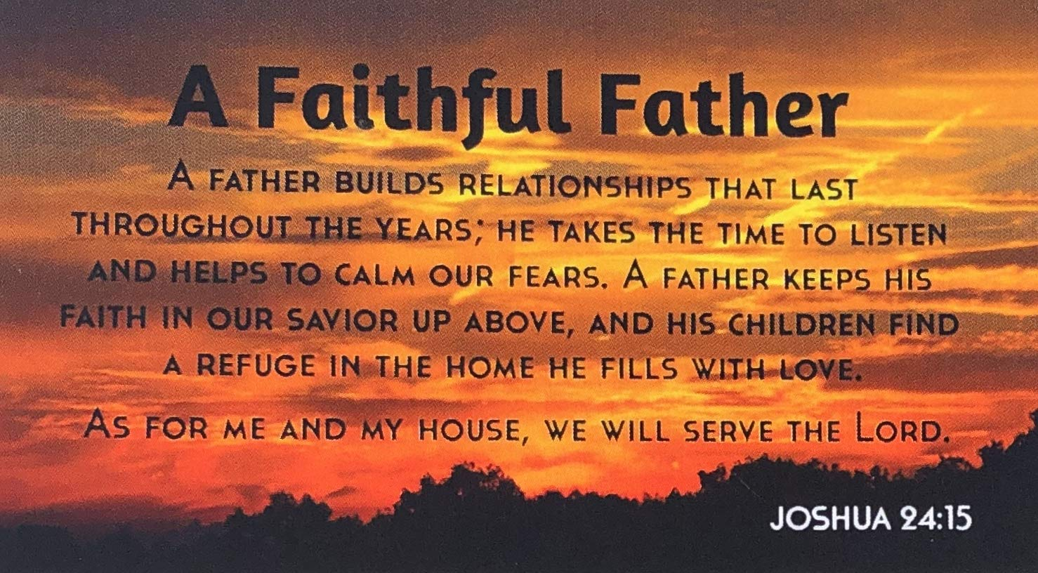 Biblebanz Fathers Day Faithful Father Joshua 24:15 Bulk Christian Magnets for Dad (10 Count)