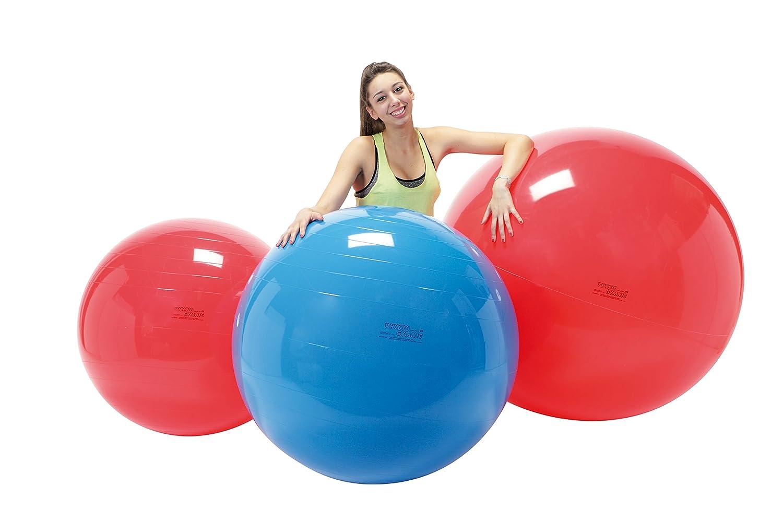 Gymnic Physio - Bola Hinchable Color Rojo Para Gimnasia Fitness - Diámetro 85cm - Pelota Tipo Swiss Ball - Bola Entrenamiento Muscular - Ejercicios Yoga ...