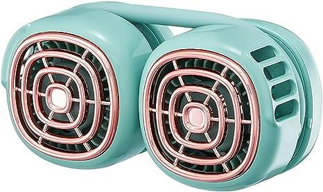 Ventilador de cuello portátil-Mini ventilador USB-Sin ruido para colgar-Deportes/Viajes/Exterior (#A-01)
