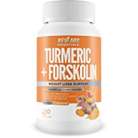 Turmeric Plus Forskolin - Turmeric Curcumin 95% with Bioperine Black Pepper Extract...