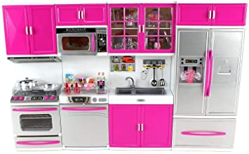 Buy Khilona House Barbie Dream House Kitchen Set Light Sound Online At Low Prices In India Amazon In