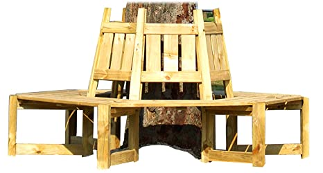 Panchina Rotonda : Panchina da giardino da posizionare intorno a un albero: amazon.it