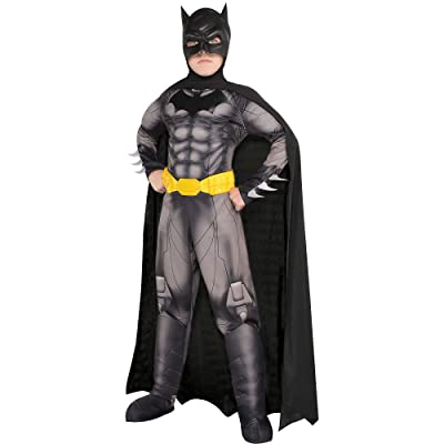 Suit Yourself DC Comics: New 52 Batman Muscle Costume for Boys, Includes a Padded Jumpsuit, a Cape, and More: Clothing