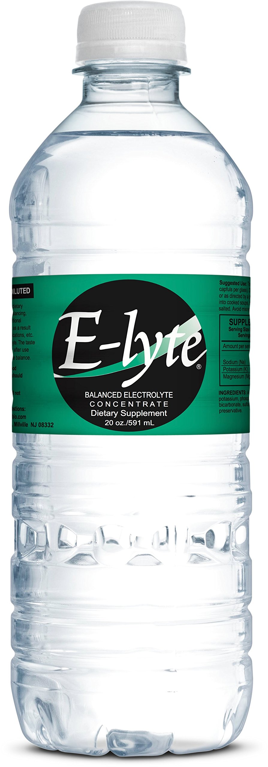 BodyBio - E-lyte Balanced Electrolyte Concentrate, Elyte with Sodium, Magnesium & Potassium, 20oz, 40 Servings
