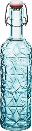 """Bormioli Rocco 320269-MQD - Botella de cristal""""Oriente"""", 1 L, color azul"""