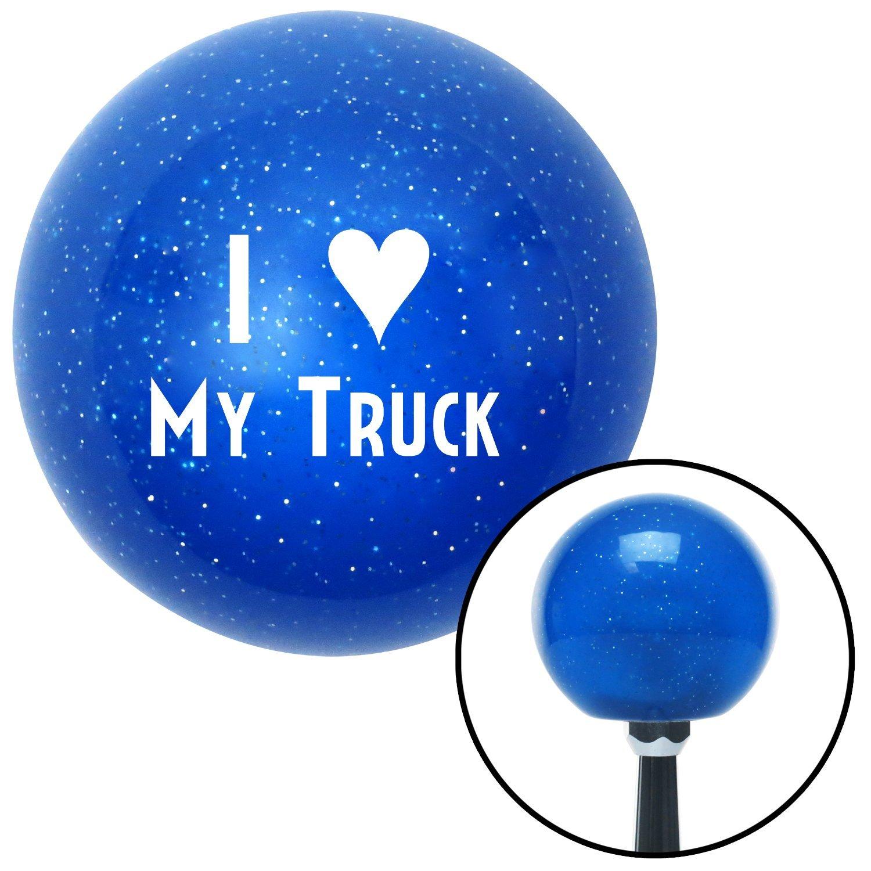 White I 3 My Truck American Shifter 24105 Blue Metal Flake Shift Knob