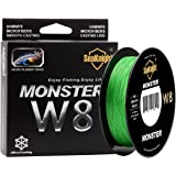 SeaKnight Monster W8 Braided Lines 8 Strands Weaves 500M/547Yards Super Smooth PE Braided Multifilament Fishing Lines for Sea Fishing 15-100LB